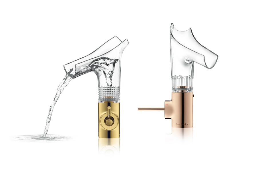 Axor Starck V Einhebelmischer Gold Glass Cut
