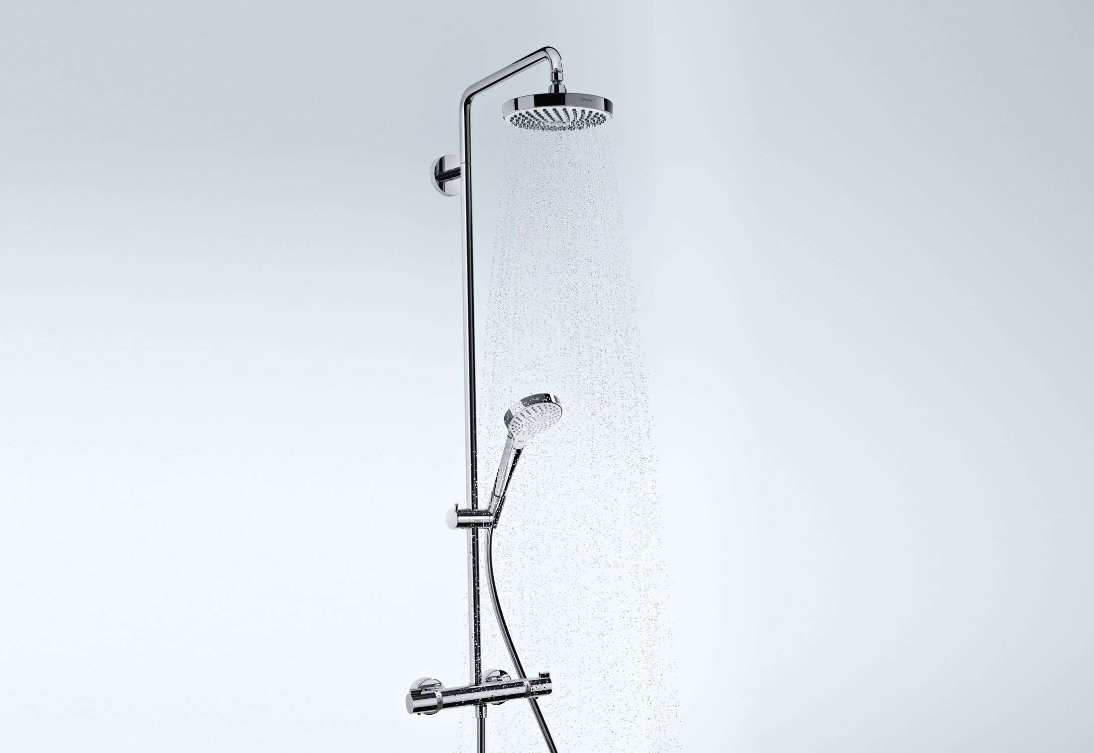 croma select s 180 showerpipe by hansgrohe stylepark. Black Bedroom Furniture Sets. Home Design Ideas