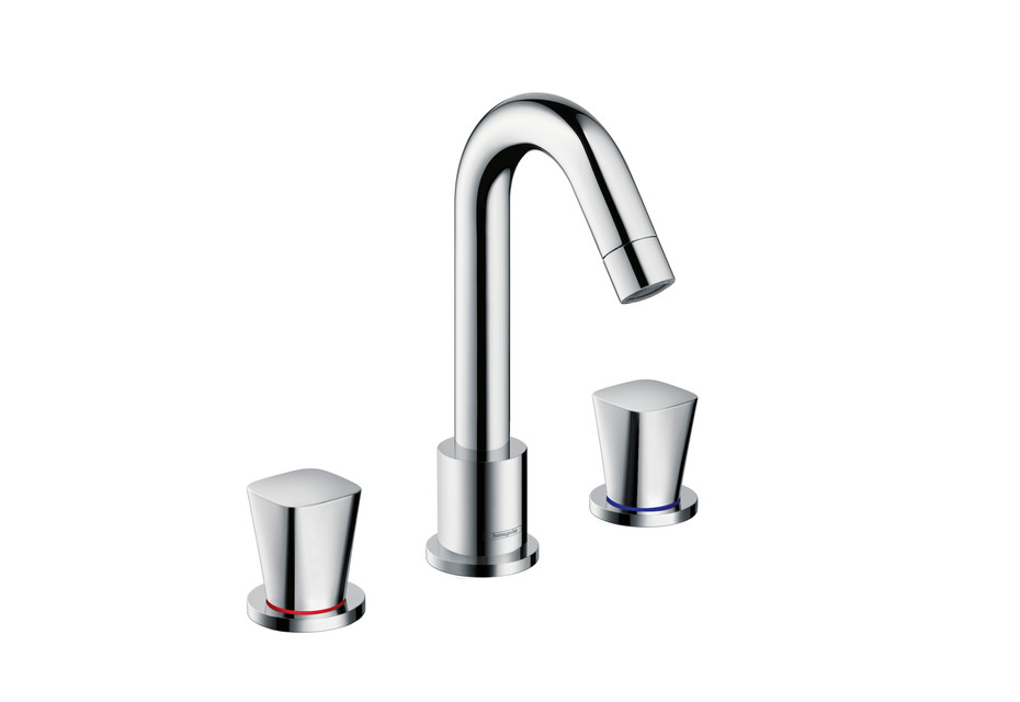 Logis 3-hole basin mixer with pop-up waste set