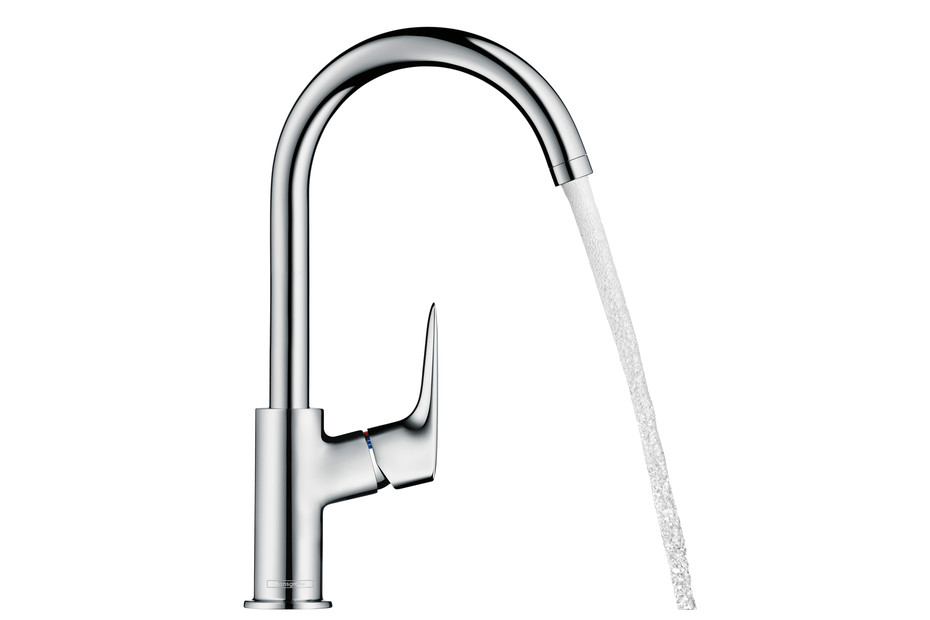 Logis single lever basin mixer 210 with swivel spout with 120°