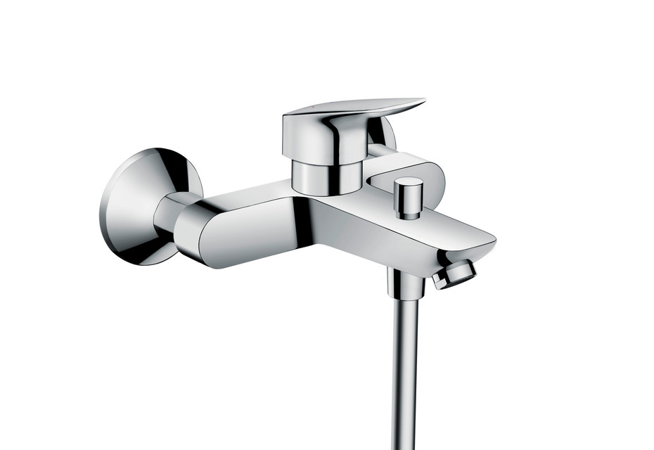 Logis Single lever bath mixer for exposed installation