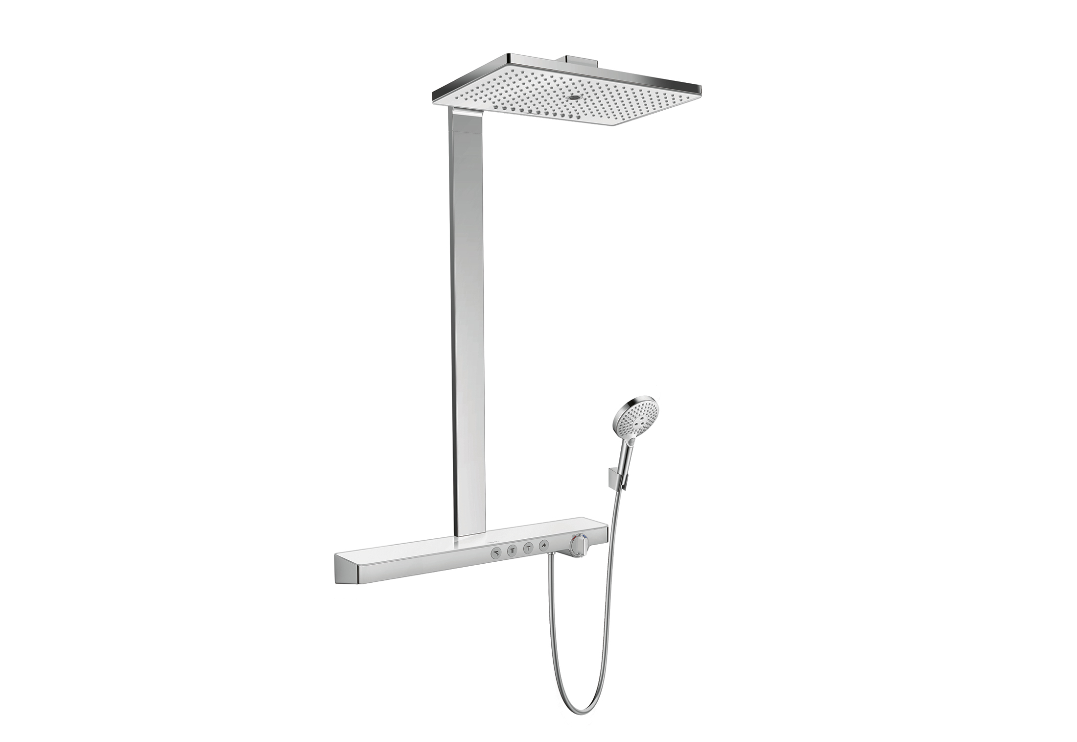 rainmaker select showerpipe 3jet raindance select s120 von hansgrohe stylepark. Black Bedroom Furniture Sets. Home Design Ideas