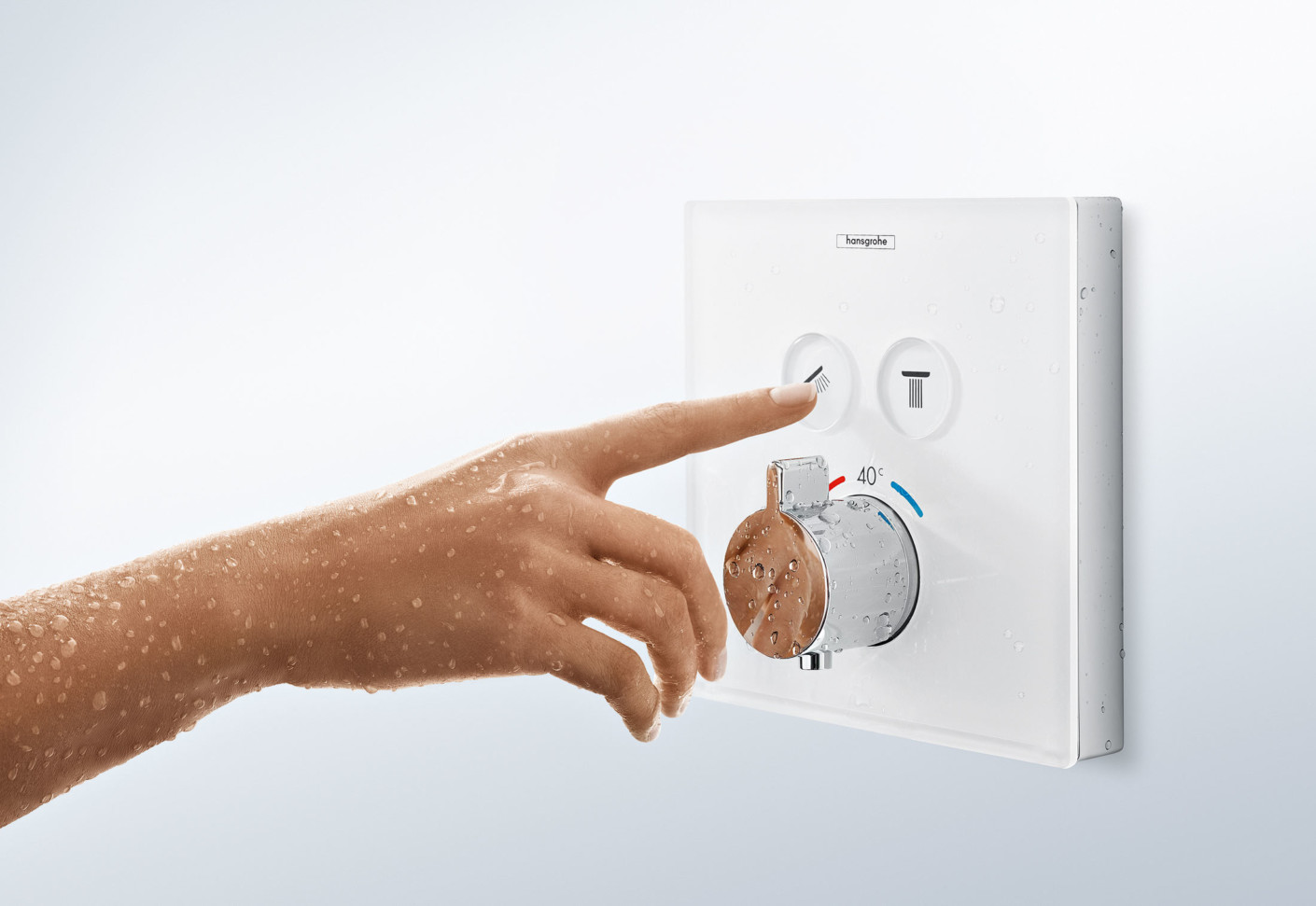 showerselect thermostat for concealed installation by hansgrohe stylepark. Black Bedroom Furniture Sets. Home Design Ideas
