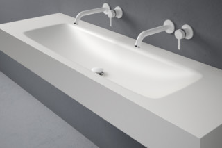 D5 Corian® washbasin countertop  by  Inbani