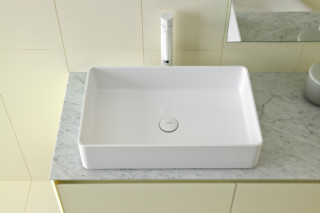 GLAZE rectangular countertop basin  by  Inbani