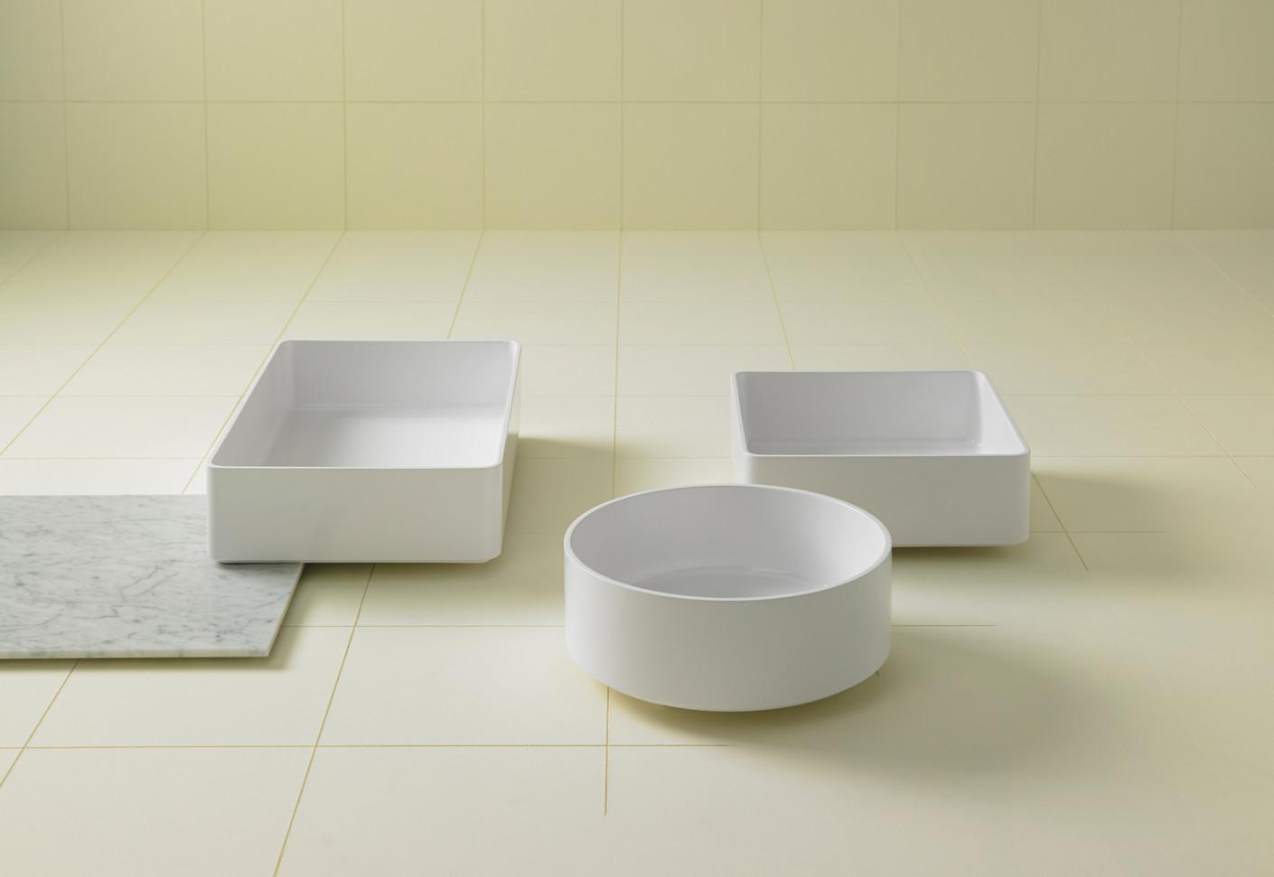 glaze waschbecken rechteckig eingelassen von inbani. Black Bedroom Furniture Sets. Home Design Ideas