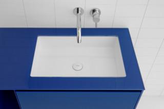 GLAZE rectangular sunken-in washbasin  by  Inbani