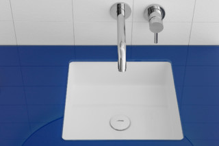 GLAZE square sunken-in washbasin  by  Inbani