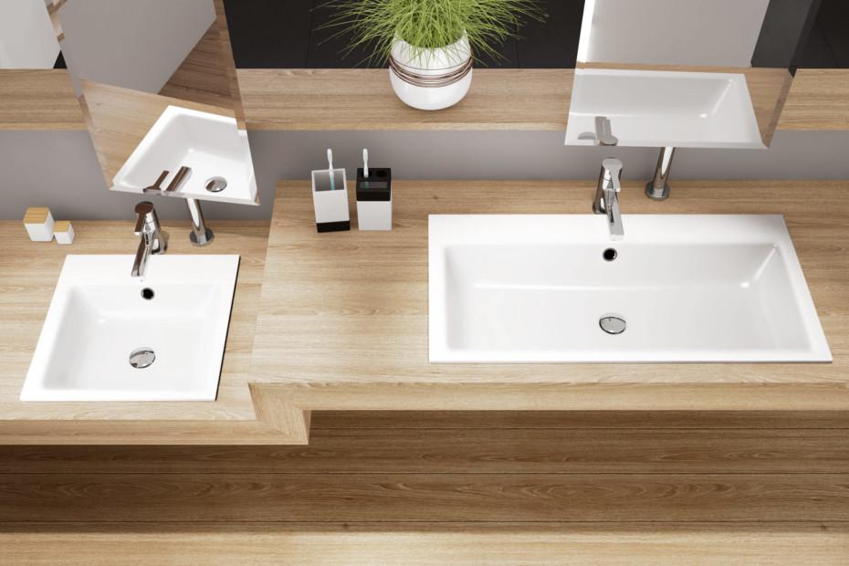 Puro recessed washbasins