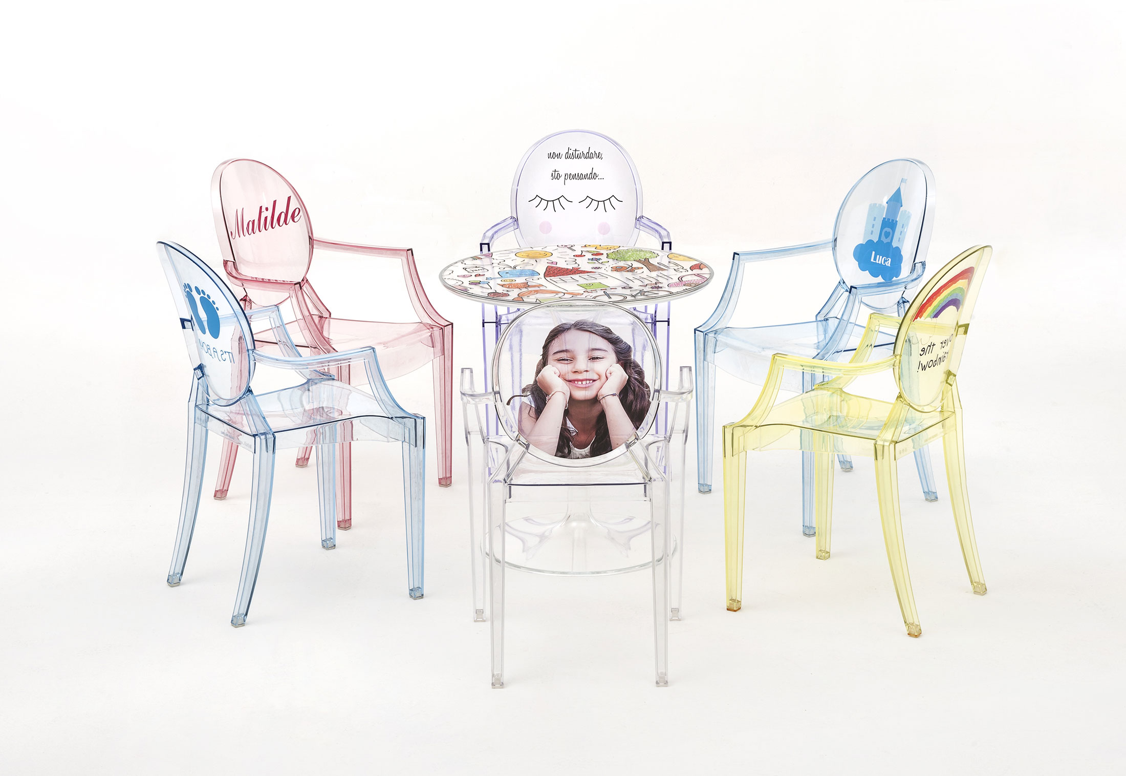 lou lou ghost kids by kartell stylepark. Black Bedroom Furniture Sets. Home Design Ideas