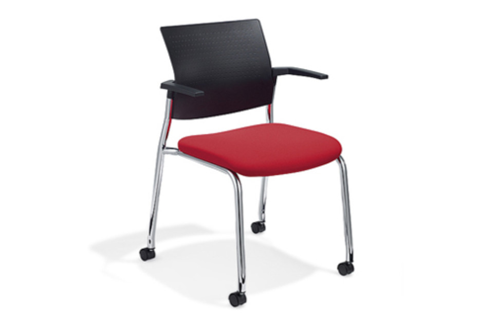 Cato Meeting chair with castors