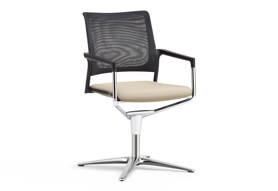 Mera conference swivel chair with mesh backrest