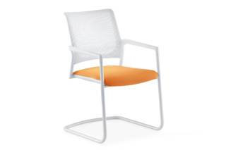 Mera visitor chair Cantilever with mesh backrest  by  Klöber