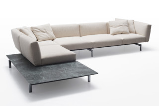 Avio corner sofa with tabletop  by  Knoll