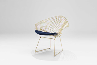 Bertoia Diamond Lounge Chair gold-plated  by  Knoll