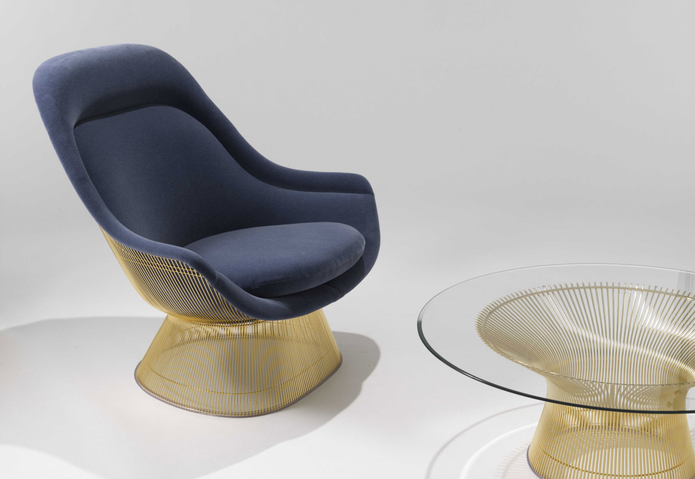 Platner Armchair Gold By Knoll Stylepark