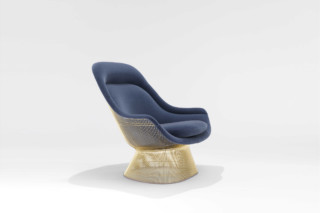 Platner armchair gold  by  Knoll