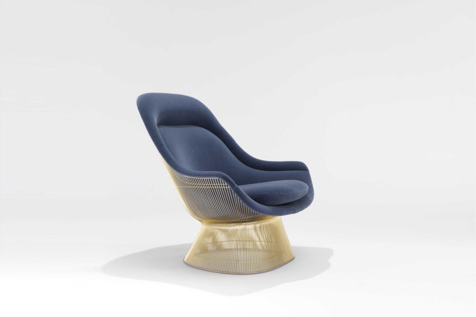 Platner armchair gold