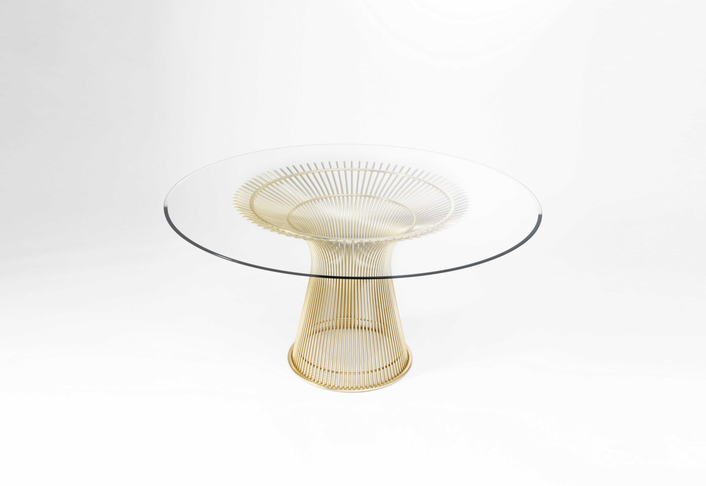 Platner Coffee Table gold by Knoll STYLEPARK
