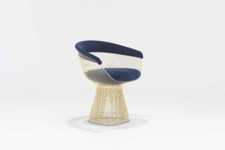 Platner Lounge Sessel gold  von  Knoll