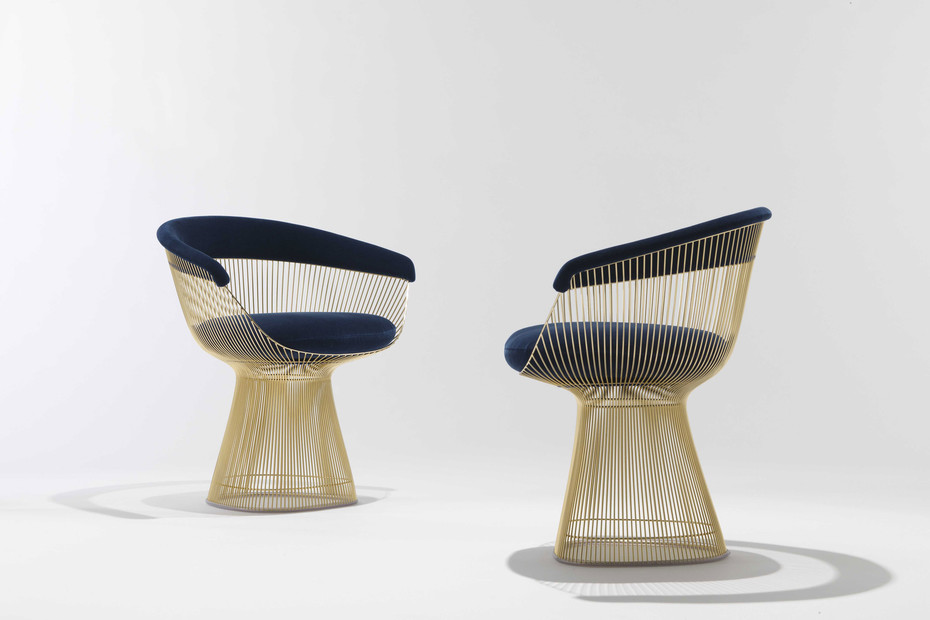 Platner Lounge Sessel gold