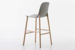 Sharky stool with high backrest  by  Kristalia