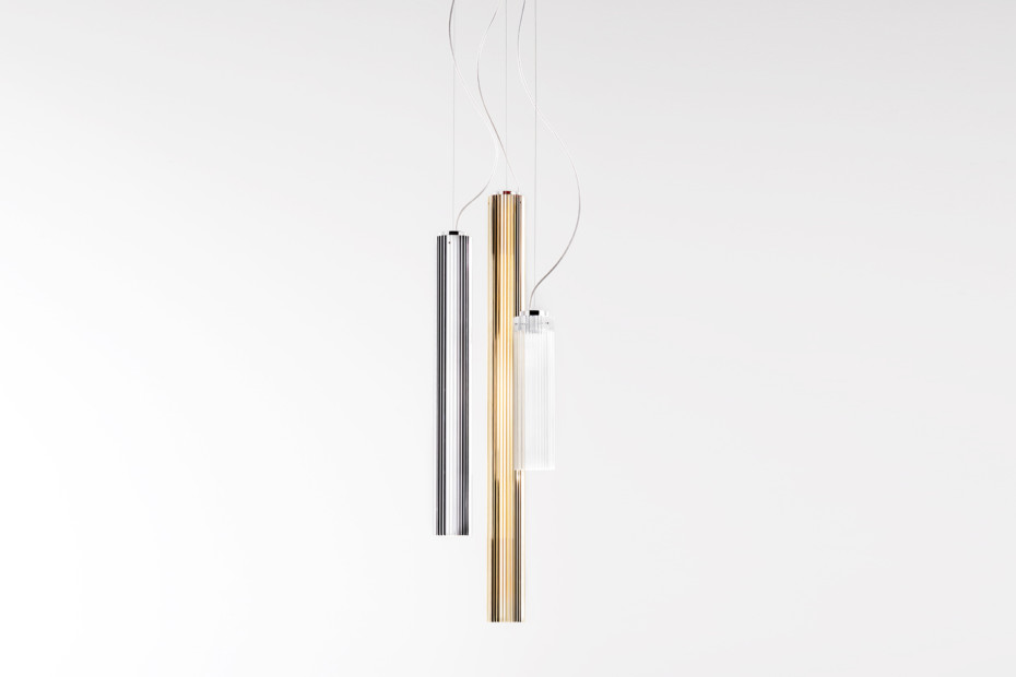 Kartell by Laufen pendant lamp metallic colour