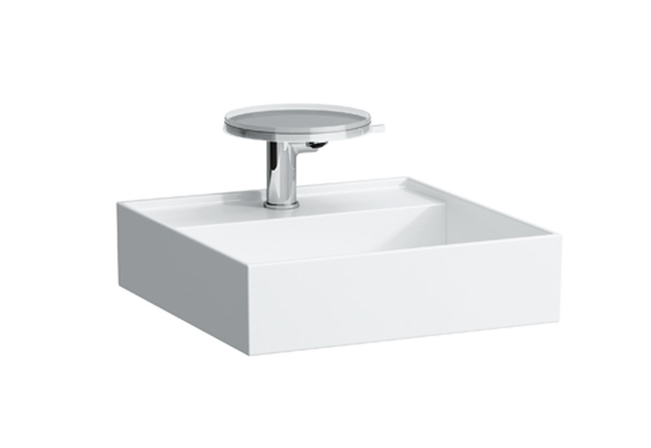 Kartell by Laufen Small washbasin with special hidden outlet