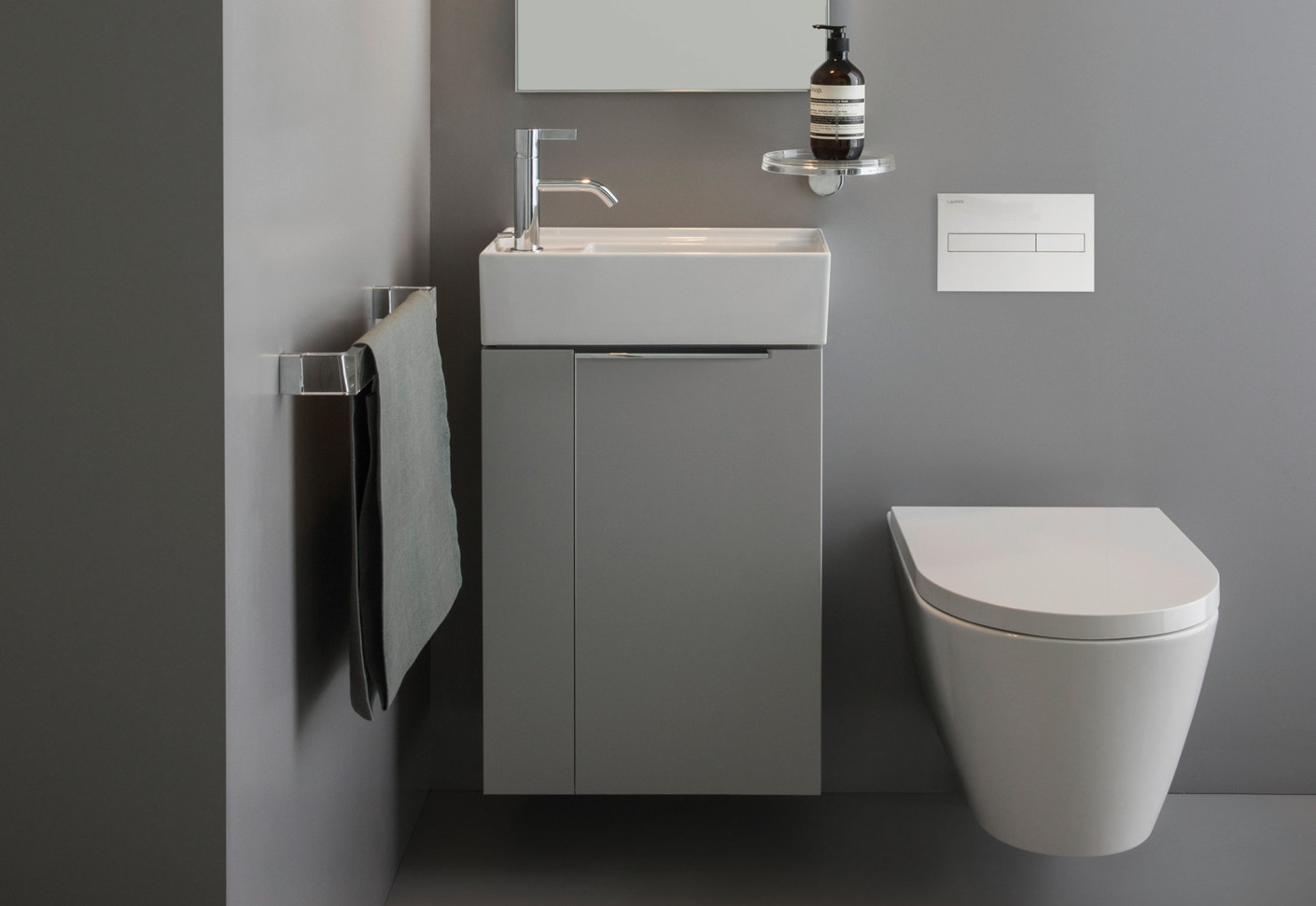 Kartell By Laufen Vanity Unit Folding Compartment By