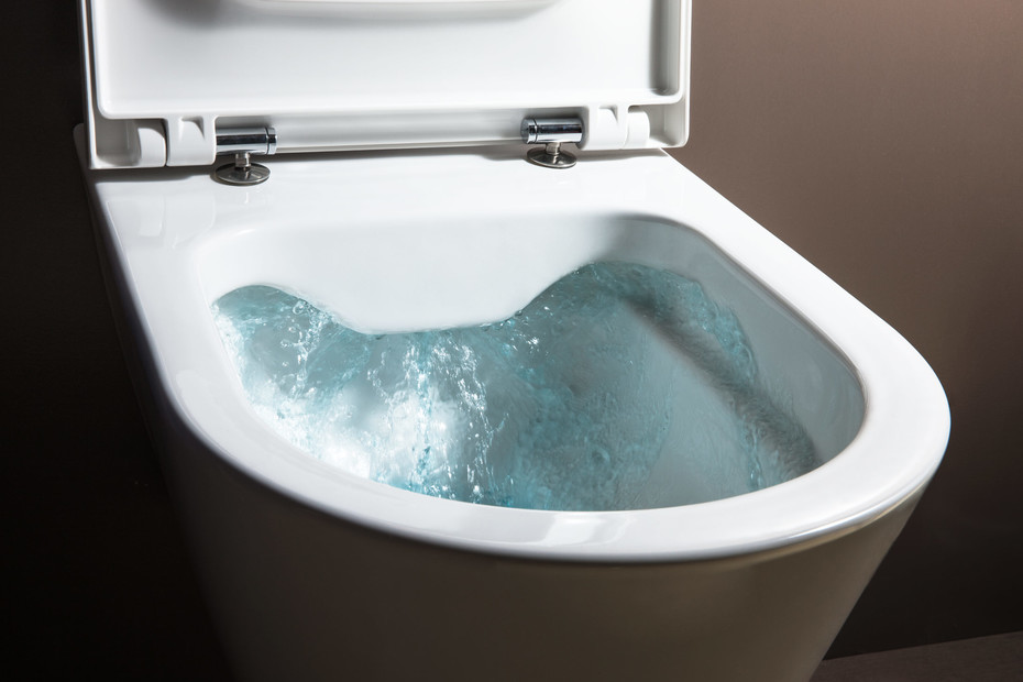Kartell by Laufen wall-hung WC rimless, washdown