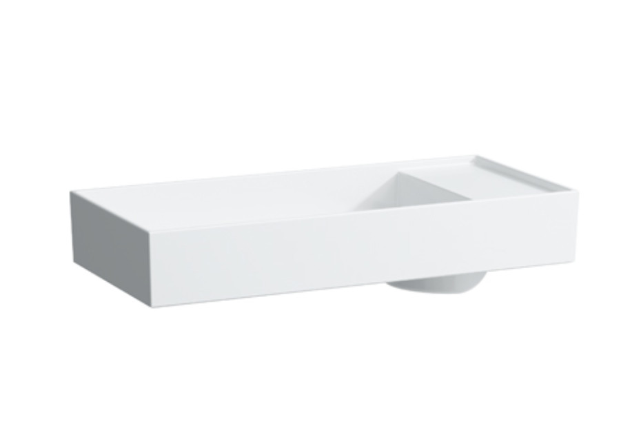 Kartell by Laufen Washbasin bowl with tapbank with special hidden outlet