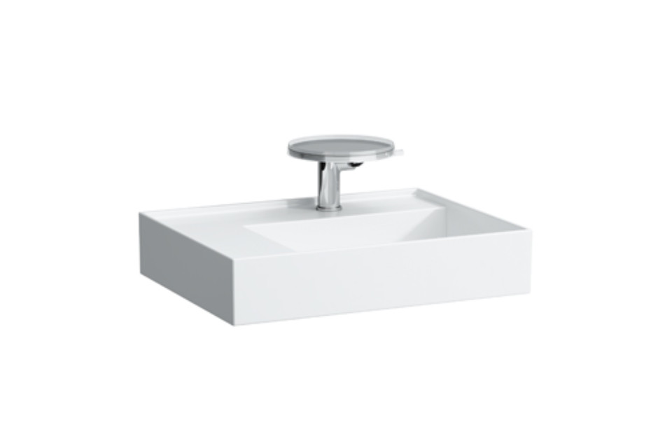 Kartell by Laufen Washbasin shelf left with special hidden outlet