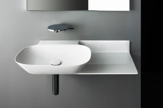 SaphirKeramik Ino washbasin with console  by  Laufen