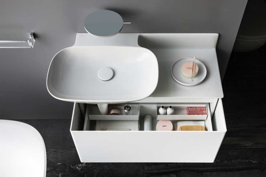 SaphirKeramik Ino washbasin with console