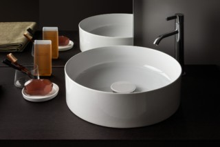SaphirKeramik round washbasin bowl  by  Laufen