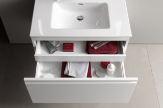 SaphirKeramik Space washbasin under cabinet  by  Laufen