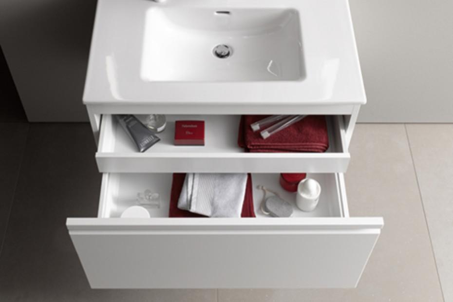 SaphirKeramik Space washbasin under cabinet