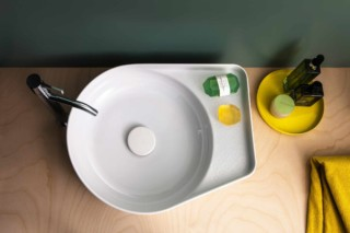 SaphirKeramik Val washbasin bowl round  by  Laufen