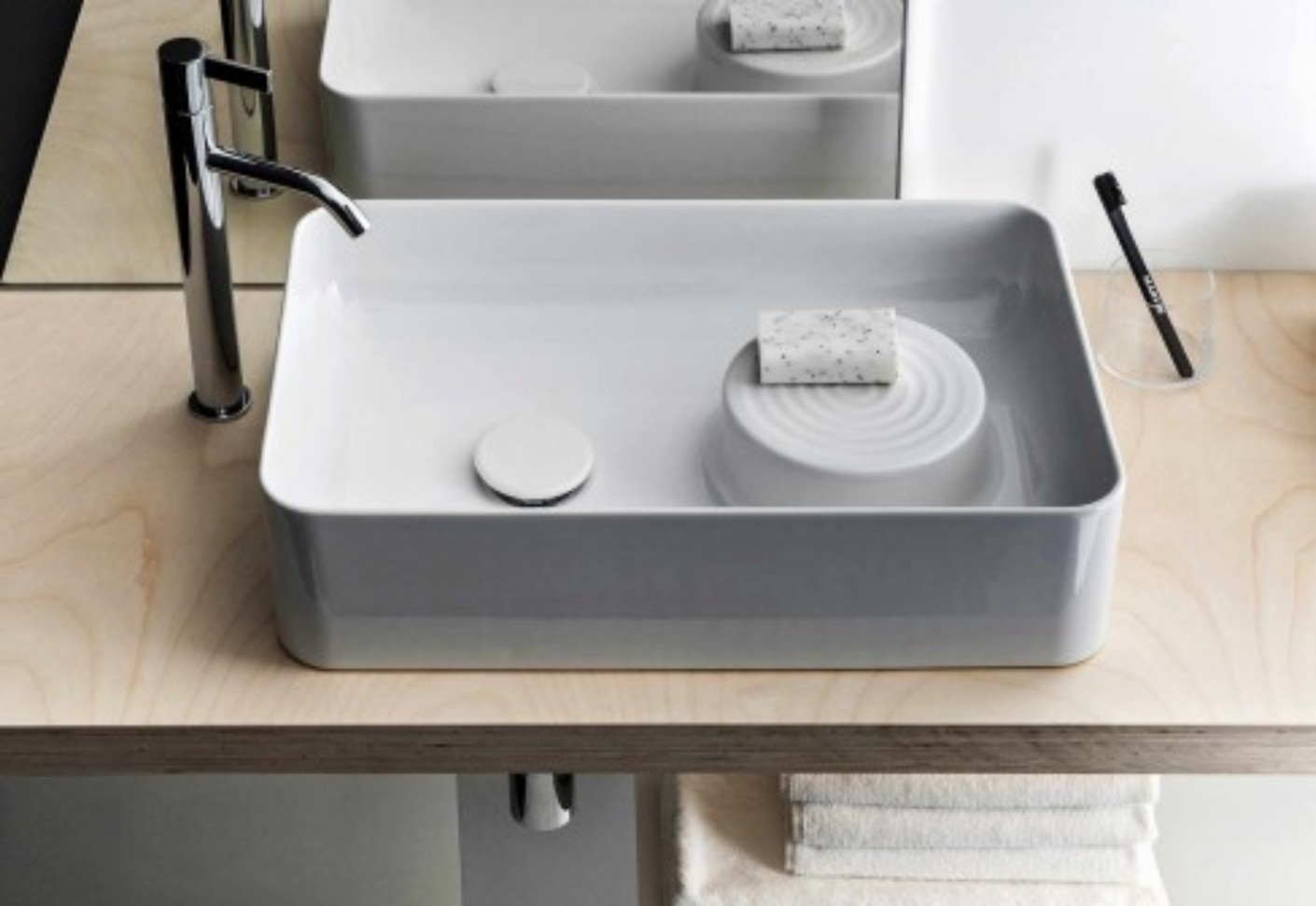 saphirkeramik val waschtisch schale von laufen stylepark. Black Bedroom Furniture Sets. Home Design Ideas