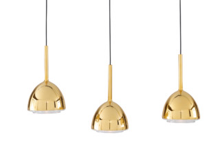 BRASS BELL suspeding lamp   by  ligne roset
