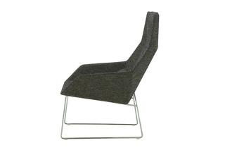 ELSA high armchair with slides  by  ligne roset