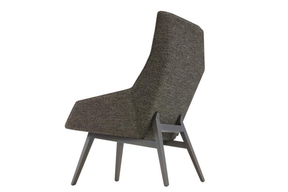 ELSA Sessel hoch mit Holzbeinen
