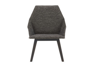 ELSA low armchair with wooden legs  by  ligne roset