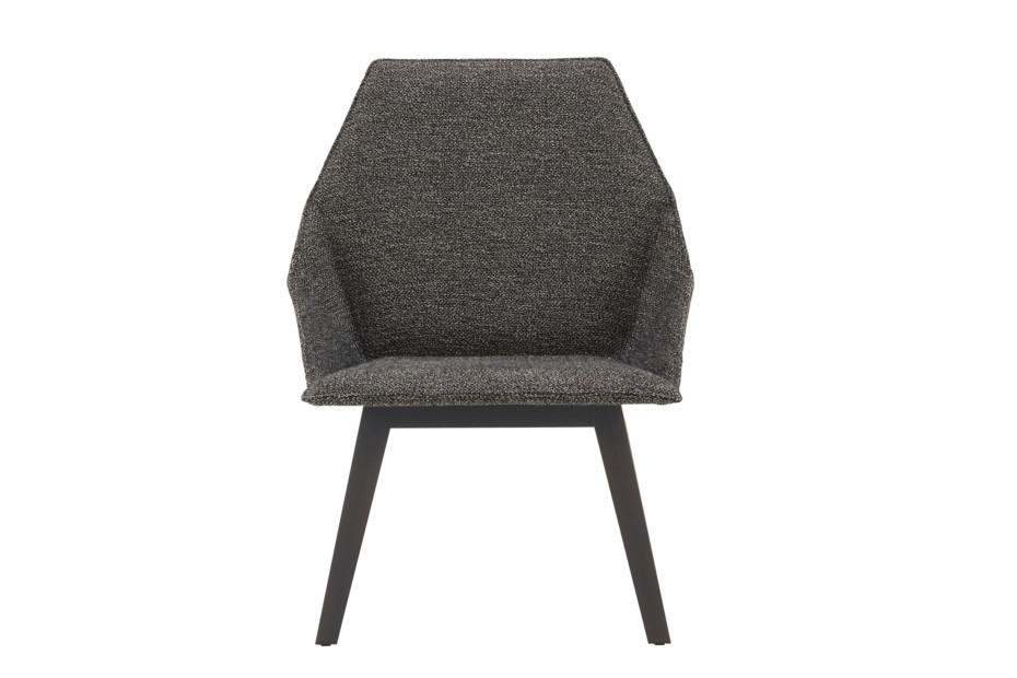 ELSA low armchair with wooden legs