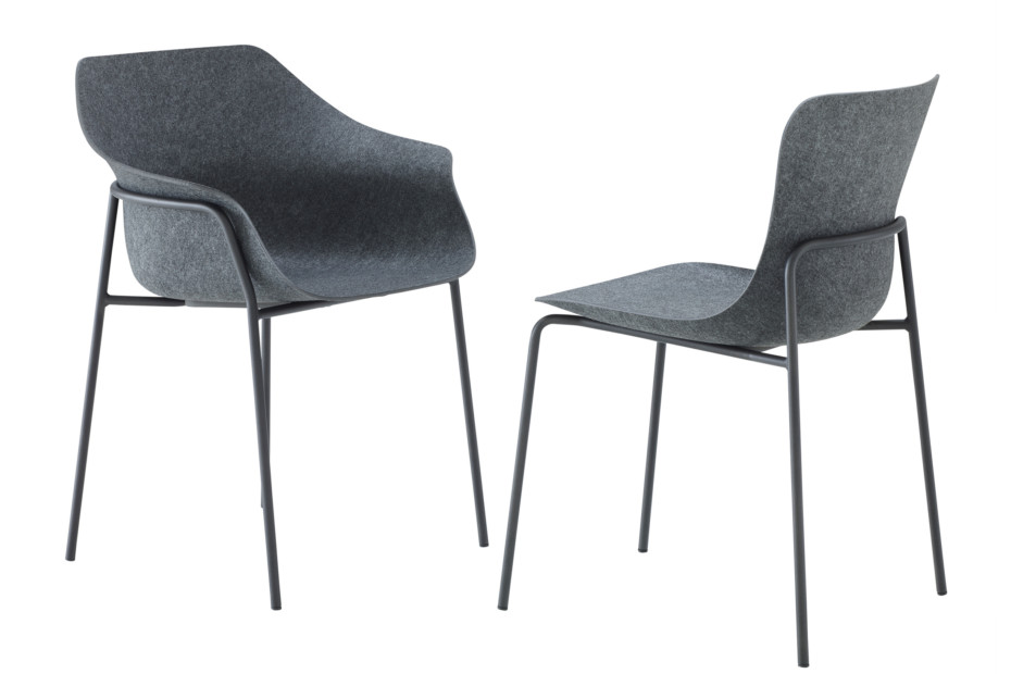 ETTORIANO chair with armrests by ligne roset