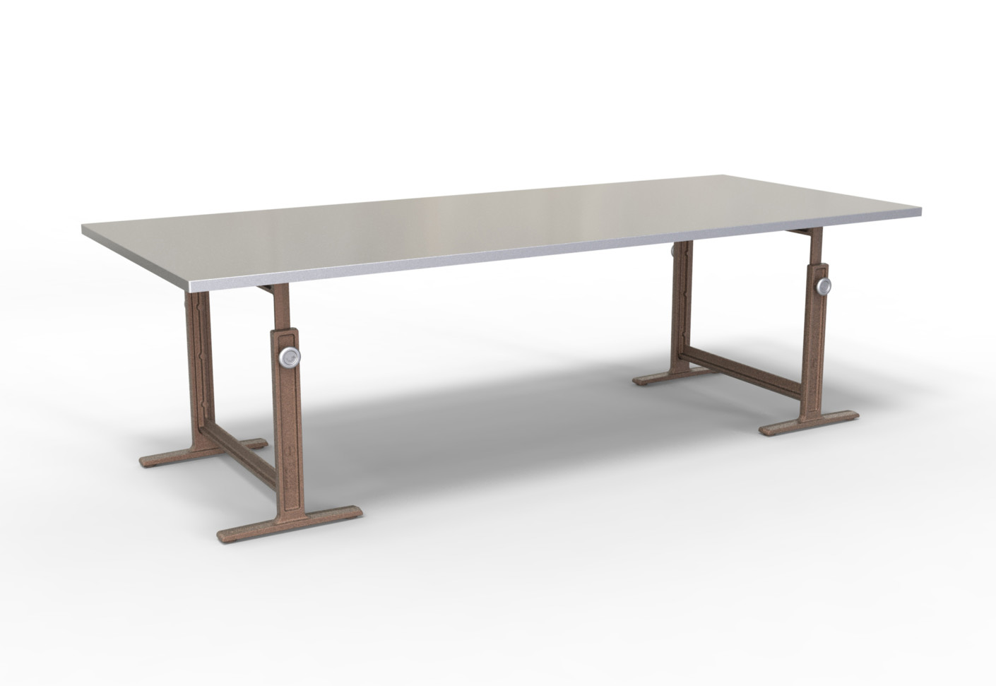 Brut high adjustable table by magis stylepark for Table en chene brut