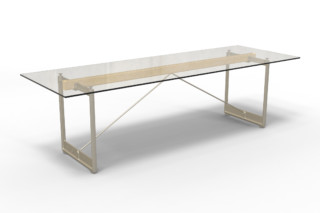 BRUT rectangular table  by  Magis