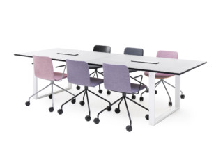 Frankie conference table sled base  by  Martela