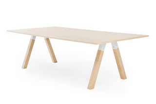 Frankie conference table wooden base  by  Martela