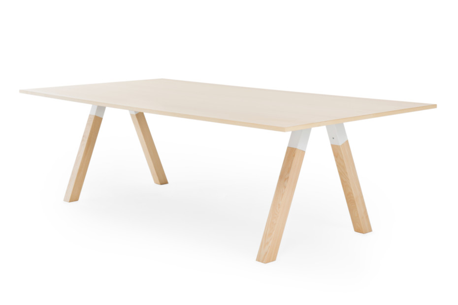 Frankie conference table with wooden base